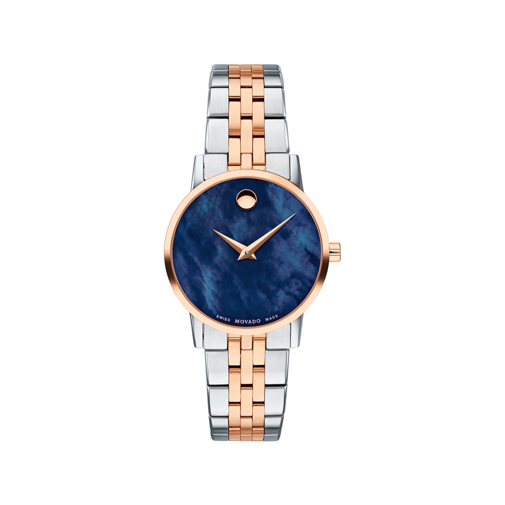 Movado Museum Women Blue Analog Quartz Watch